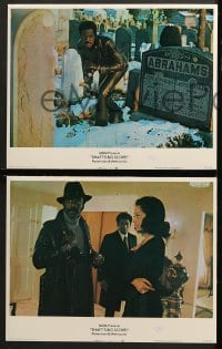 2r311 SHAFT'S BIG SCORE 8 LCs 1972 action scenes of mean Richard Roundtree w/guns!