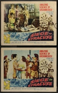 2r524 SIEGE OF SYRACUSE 6 LCs 1962 Rossano Brazzi, Tina Louise, the amazing story of Archimedes!
