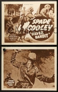 2r316 SILVER BANDIT 8 LCs 1950 cool images of western cowboy Spade Cooley, Ginny Jackson!