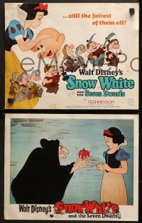 2r024 SNOW WHITE & THE SEVEN DWARFS 9 LCs R1967 Walt Disney animated cartoon fantasy classic!