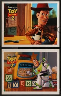 2r009 TOY STORY 2 11 LCs 1999 cool candid images of Woody & Buzz Lightyear in Pixar animated sequel!