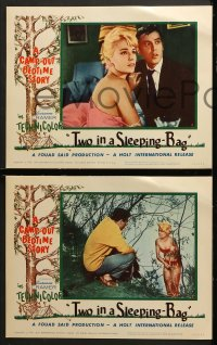 2r461 TWO IN A SLEEPING-BAG 7 LCs 1964 German camp-out romance, Susanne Cramer, Claus Biederstaedt!