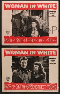 2r538 WOMAN IN WHITE 6 LCs 1948 Eleanor Parker, Alexis Smith, Sidney Greenstreet, Gig Young