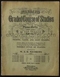 2s881 STANDARD GRADED COURSE OF STUDIES softcover book 1892 for the piano forte in ten grades!