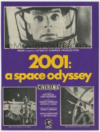 2s017 2001: A SPACE ODYSSEY Cinerama English trade ad 1968 Stanley Kubrick, Dullea, Bob McCall art!