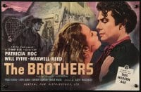 2s021 BROTHERS English trade ad 1949 romantic close up art of Patricia Roc & Maxwell Reed!