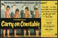 2s022 CARRY ON CONSTABLE English trade ad 1961 wacky art of naked English cops in the shower!