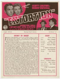 2s031 EXTORTION English trade ad 1938 Scott Colton & Mary Russell solve a campus mystery!