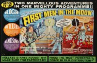 2s033 FIRST MEN IN THE MOON/EAST OF SUDAN English trade ad 1964 two marvellous adventures!