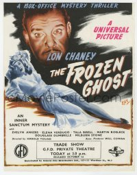 2s036 FROZEN GHOST English trade ad 1945 Kay art of Lon Chaney Jr & Ankers, Inner Sanctum Mystery!