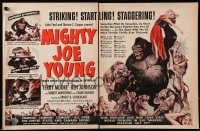 2s016 MIGHTY JOE YOUNG magazine ad 1949 1st Harryhausen, art of ape rescuing Terry Moore from lions!