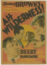 2s007 AH WILDERNESS mini WC 1935 Wallace Beery, Lionel Barrymore, Eugene O'Neill's American drama!