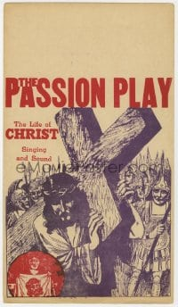2s010 PASSION PLAY mini WC 1940s The Life of Christ with Singing and Sound, art of Jesus w/ cross!