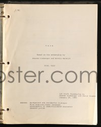 2s006 TRON 1st draft script January 26, 1981, screenplay by Steven Lisberger & David Rimmer, rare!