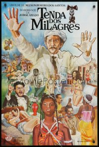 2t010 TENDA DOS MILAGRES Brazilian 1977 Hugo Carvana, Sonia Dias, Anecy Rocha, great Lobianco art!