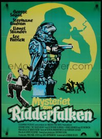 2t021 BLACK BIRD Danish 1975 George Segal, slapstick Maltese Falcon parody, great wacky art!