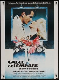 2t022 GABLE & LOMBARD Danish 1977 James Brolin as Clark, Jill Clayburgh as Carole!