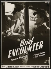 2t024 BRIEF ENCOUNTER Dutch R1995 David Lean, great c/u of Trevor Howard & Celia Johnson on train!