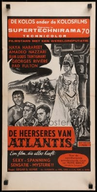 2t026 JOURNEY BENEATH THE DESERT Dutch 1961 Trintignant, art of sexy Haya Harareet!