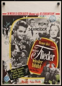 2t027 WHEN THE WHITE LILACS BLOOM AGAIN Dutch 1956 montage of pretty Romy Schneider & cast!