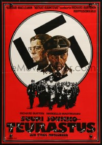 2t038 MASSACRE IN ROME Finnish 1975 Rappresaglia, art of Richard Burton & Marcello Mastroianni!