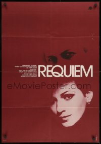 2t002 REQUIEM Hungarian 23x33 1982 Zoltan Fabri, cool image of pretty Edit Frajt!