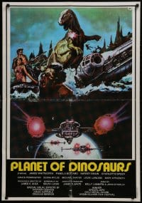 2t001 PLANET OF DINOSAURS Lebanese 1978 X-Wings & Millennium Falcon art from Star Wars by Aller!
