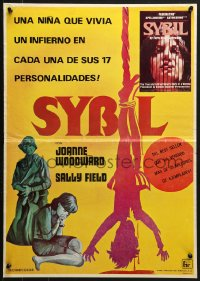 2t035 SYBIL Mexican poster 1976 Sally Field, Joanne Woodward, schizophrenia, different art!