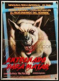 2t015 WHITE DOG South American 1986 Sam Fuller directed, Trained to Kill, de-programming a racist dog!