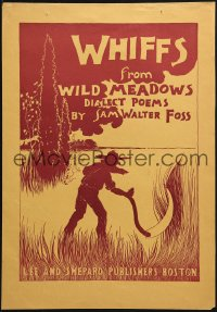 2w348 WHIFFS FROM WILD MEADOWS 12x17 advertising poster 1895 farmer using a scythe in a field!