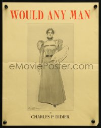 2w349 WOULD ANY MAN 11x14 advertising poster 1898 woman holding palette by Charles P. Didier!