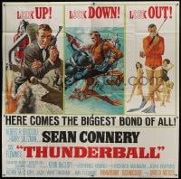 2x100 THUNDERBALL 6sh 1965 art of Sean Connery as James Bond by Robert McGinnis & Frank McCarthy!