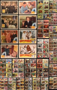 2y072 LOT OF 219 LOBBY CARDS 1940s-1960s incomplete sets from a variety of different movies!