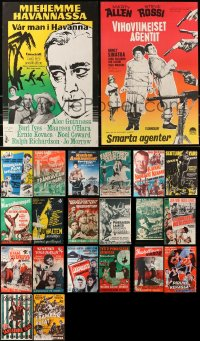 2y574 LOT OF 25 MOSTLY UNFOLDED FINNISH POSTERS 1950s-1960s great different images!