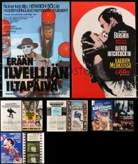 2y588 LOT OF 14 MOSTLY UNFOLDED FINNISH 16x24 POSTERS 1960s-1970s a variety of movie images!