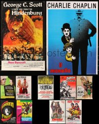 2y590 LOT OF 11 MOSTLY UNFOLDED FINNISH 16x24 POSTERS 1960s-1970s a variety of movie images!