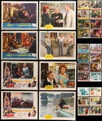 2y139 LOT OF 46 LOBBY CARDS 1950s-1960s incomplete sets from a variety of different movies!