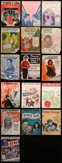 2y182 LOT OF 16 MOVIE SHEET MUSIC 1930s-1950s great songs from a variety of different movies!