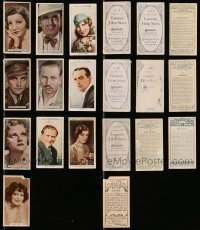 2y345 LOT OF 10 ENGLISH CIGARETTE CARDS 1920s-1930s great portraits of top actors & actresses!