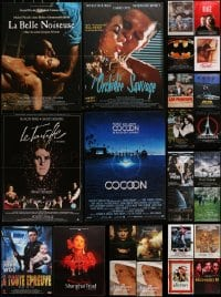 2y600 LOT OF 26 FORMERLY FOLDED 15x21 FRENCH POSTERS 1980s-2000s great images from a variety of movies!