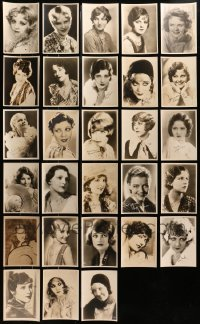 2y369 LOT OF 28 5X7 FAN PHOTOS OF FEMALE STARS 1920s-1930s portraits with facsimile signatures!