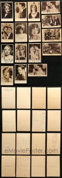2y336 LOT OF 16 FRENCH POSTCARDS 1920s-1930s great portraits of top Hollywood stars!