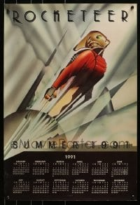 2y721 LOT OF 5 ROCKETEER CALENDARS 1991 great John Mattos art used on the one-sheet!