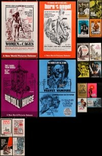 2y294 LOT OF 24 UNCUT PRESSBOOKS 1970s advertising a variety of different movies!