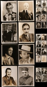 2y512 LOT OF 28 8X10 STILLS OF MALE PORTRAITS 1930s great images of leading & supporting men!