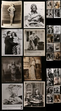 2y513 LOT OF 28 8X10 STILLS 1930s-1980s a variety of great movie scenes & star portraits!