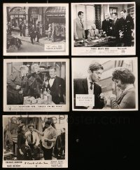 2y343 LOT OF 5 ENGLISH FRONT OF HOUSE LOBBY CARDS 1950s-1960s scenes from a variety of movies!