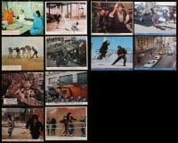 2y344 LOT OF 12 COLOR ENGLISH FRONT OF HOUSE LOBBY CARDS AND 8X10 STILLS 1960s-1970s cool scenes!