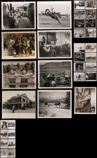 2y497 LOT OF 41 WESTERN 8X10 STILLS 1940s-1960s a variety of cowboy movie scenes & star portraits!