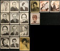 2y004 LOT OF 16 NEWSPAPER AND MAGAZINE PHOTO SUPPLEMENTS 1930s cool 8x10 portraits of top stars!